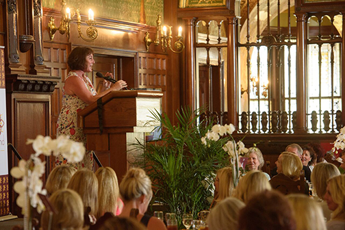 Speaker Jenny Levison addresses attendees at the annual Power of the Purse fundraiser