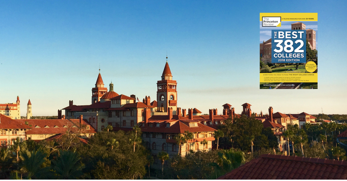 Picture of Flagler College named to Princeton Review's best 382 colleges.