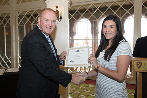 Flagler College student on President's List honored during ceremony