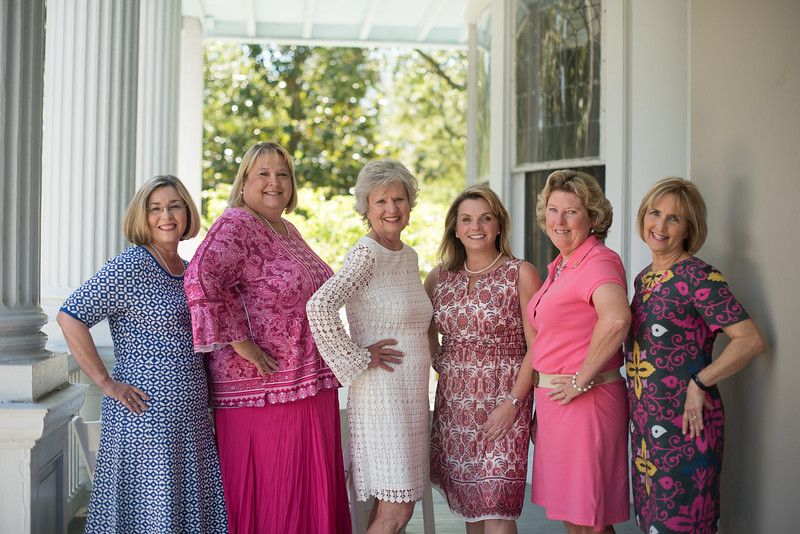 A picture of Mrs. Abare and the women co-hosting her last Spring Tea.